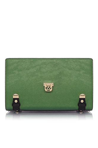 Numeroventidue MEDIUM TURTLE GUSCIO Borse Accessori Metal Green