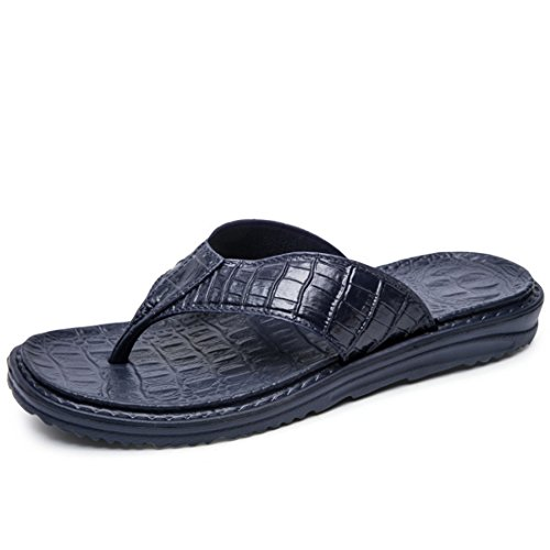 Men's High Quality Eva Soft Flip Flops Beach Slippers blue