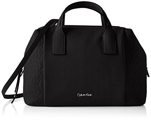 Calvin Klein Jeans Damen MISH4 Duffle Henkeltaschen, Schwarz (Black 001 001), 21x33x14 cm