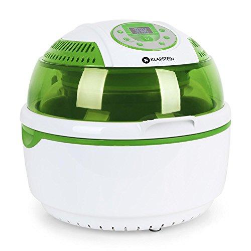 Klarstein VitAir friggitrice ad aria calda forno (1400 Watt, capacitá, 9 litri, programmabile, timer) verde