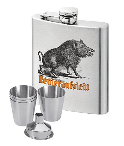 Der Flachmann für den Jäger: Revieraufsicht Wildschwein