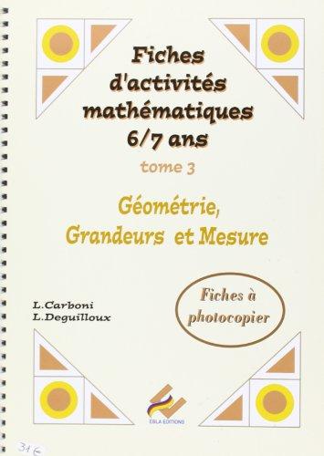 CP - Fiches d'activités mathématiques TOME 3