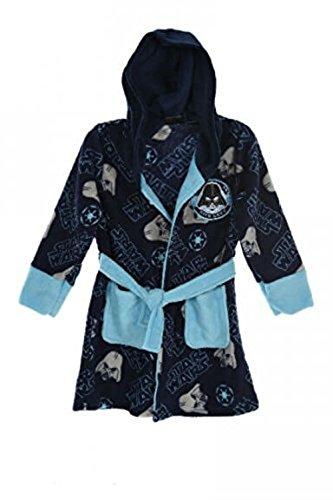 Disney Star Wars Dressing Gown Bathrobe Nightwear Age 3-10 Years (7-8 Years (Manufacturer Size: 8 Years), Navy)