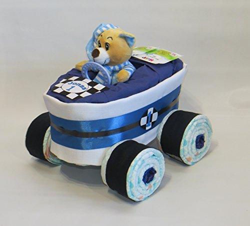 Windeltorte - Windelrennwagen Rennauto blau