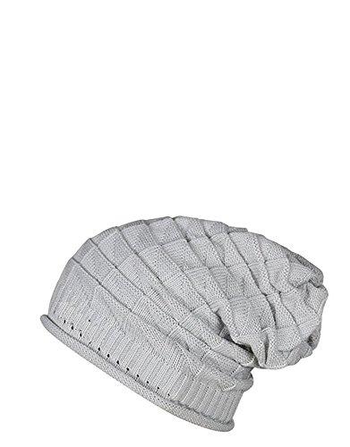 Zacharias Light Grey Knitted Slouchy Beanie