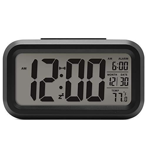 Lanker Despertador De Viaje - Reloj Digital con Pantalla LCD Grande, Luz...