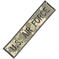 US Air Force USAF Name Tape ACU Subdued Embroidered Combat Touch Fastener Patch