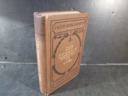 Der Cicerone, Eine Anleitung zum Genuss der Kunstwerke Italiens, Zweiter Teil Mittelalter und Neuere Zeit, I. Architektur