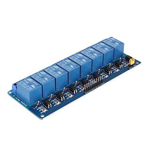Jasnyfall 24 V 8 Kanal Relaismodul Interface Board Low Level Trigger Optokoppler für Arduino SCM PLC Smart Home Fernbedienung Schalter (Blau & Schwarz) Universal-trigger-modul