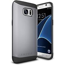 Funda Galaxy S7 Edge, Snugg Samsung Galaxy S7 Edge Case Slim Carcasa de Doble Capa [Infinity Series] Revestimiento con Protección Anti-Golpes – Gris