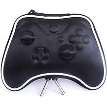 Pandaren® Caso duro bolsa de transporte airform para el Mando Xbox One (negro)