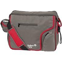 Safety 1st 16035420 Mod'Bag - Bolso para pañales y cambiador con compartimentos (gris y rojo)