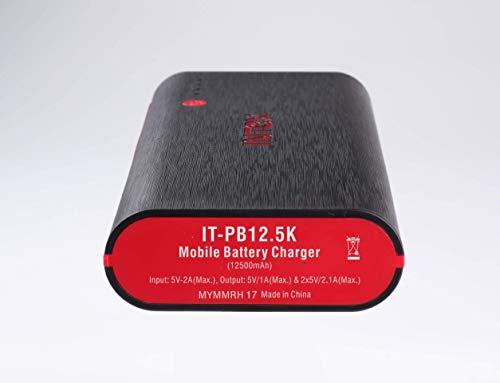Intex IT-PB12.5K 12500 mAH Power Bank (Black-Red)