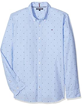 Tommy Hilfiger Ame Th Dobby Shirt L/S, Camicia Bambino