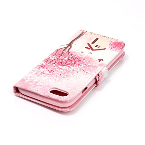 Uming® Il modello della stampa della custodia per armi variopinta della copertura Holster Cover Case ( Glasses cat - per IPhone 7 7G IPhone7G IPhone7 ) Flip-artificiale in pelle con staffa supporto de Cherry cottage