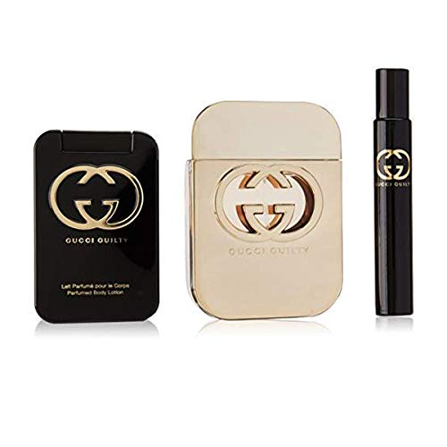 Gucci Guilty femme/woman Set (Eau de Toilette (75 ml), Bodylotion (100 ml), Eau de Toilette Pen (7,4...