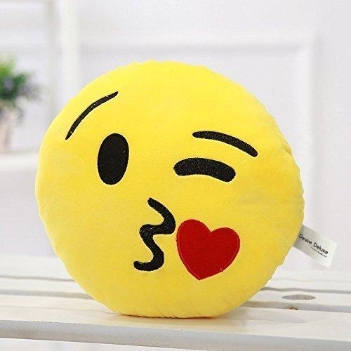 Desire Deluxe® Süßes Smiley Emoticon Kissen Werfen Kuss