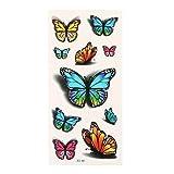Tatuaggi di farfalle impermeabili di tatuaggi di effetto 3D temporaneo Multi fogli di farfalle di arte di corpo di uso