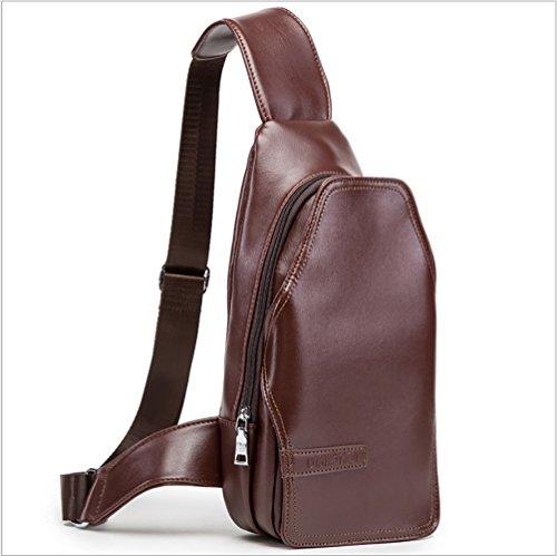 Brust - handtaschen Männer Brusttasche - koreanische Version der wilden einfachen Messenger Tasche Brieftasche trend Paar PU Leder multifunktionale IPAD Tasche (Farbe : - Verwendet Verkauf Zum Teleskope