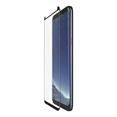 Belkin ScreenForce TemperedCurve abgerundeter Glas-Displayschutz (geeignet für Samsung Galaxy S8 Abdeckung von Rand zu Rand, Hartglas)