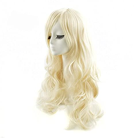 Lumière Golden Long Curls Cos Perruque Fluffy Big Wave Long Curls
