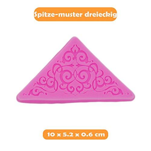 Fondant: Spitze Dreieck (Dreiecke Pergament)