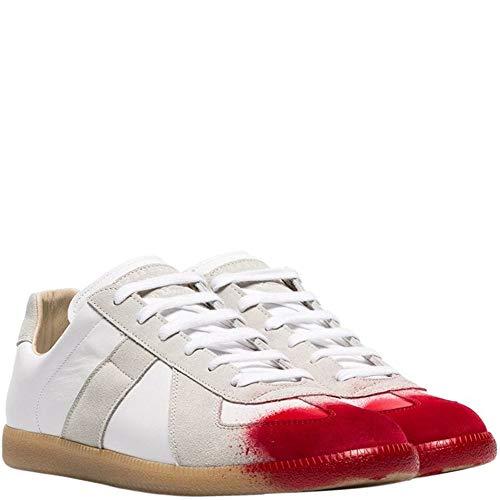 Margiela Maison Replik rot lackiert Eatschuhe weiß UK 7 White
