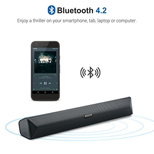 Portronics POR-891_Pure Sound Pro III Bluetooth 4.2 An All-in-One Versatile WIRELESS SOUNDBAR with FM Tuner, 3.5mm AUX, Powerful 10W Sound and USB Port