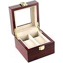 VARANDA 2 Watch Display Box Case Wooden Piano Paint Red
