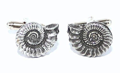 Boutons de Manchette Ammonite avec Boîte à Cadeau