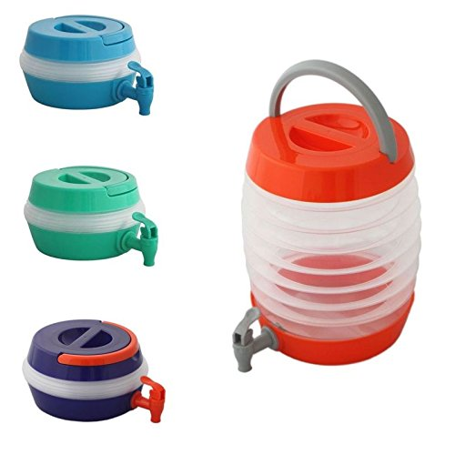 Megaprom Universal 5,5 Liter Faltbarer Camping Wasserkanister Platzsparender Wasserbehälter Wassertank Mobiler Faltkanister mit Auslaufhahn