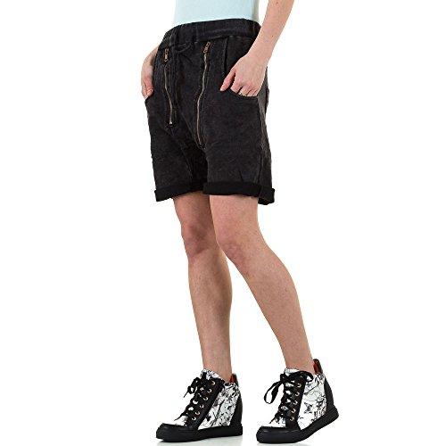 Boyfriend Shorts Für Damen bei Ital-Design Schwarz