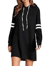 274322788f0f OHQ Robe Pull Noire à Capuche Noir Femmes Fashion New Manches Longues Jupes  Mi Courtes Soldes Femme Chic Soiree Longue Grande Taille…