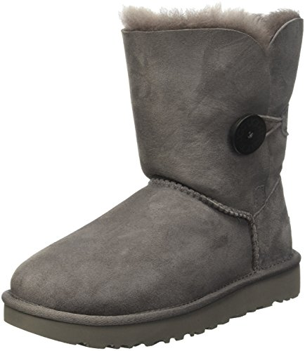 UGG Bailey Button Ii Grey Damen Schlupfstiefel, Grau (Gray), 39 EU (6.5 UK) (Ugg Stiefel-8 Neue)
