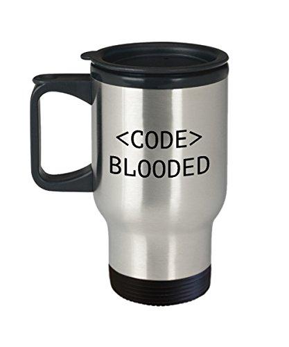 Programador de viaje taza programador divertido regalo codificador idea desarrollador regalo web diseñador taza código sangriento