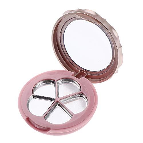 Fenteer Conteneur de Boîte Rond Vide pour Fard à Paupières Baume à Lèvres, Blush Conteneur DIY Maquillage - Or Orange