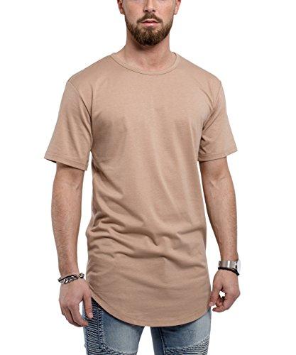 Phoenix Oversize Round T-Shirt Herren Longshirt Long Tee - Langes Shirt S,M,L,XL Desert