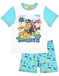 495f058f2830b La Pat  Patrouille Pyjama Court Enfant garçon Blanc Bleu de 3 à 6ans