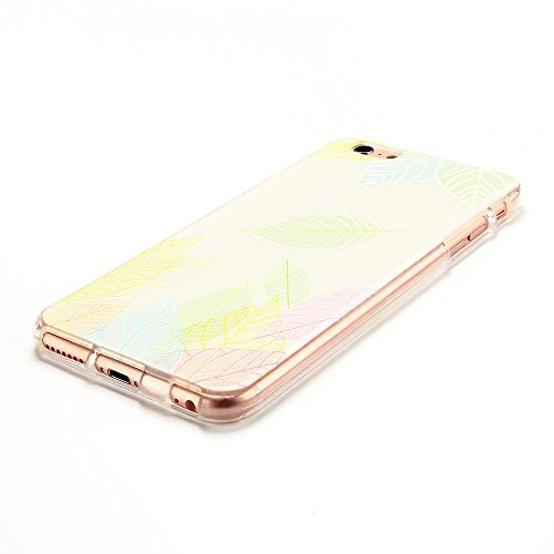 Cover iPhone 6 plus Custodia iPhone 6s plus Silicone Anfire Morbido Flessibile Gel TPU Case per Apple iPhone 6 plus/6s plus (5.5 Pollici) Ultra Sottile Slim Clear Trasparente Copertura Ultra Leggera A Foglia
