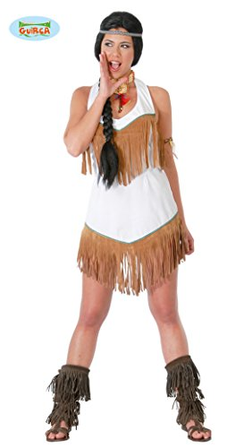 Stamm Kostüm - sexy Indianerin - Kostüm für Damen Karneval Fasching Wilder Westen Stamm Gr. S -L, Größe:M