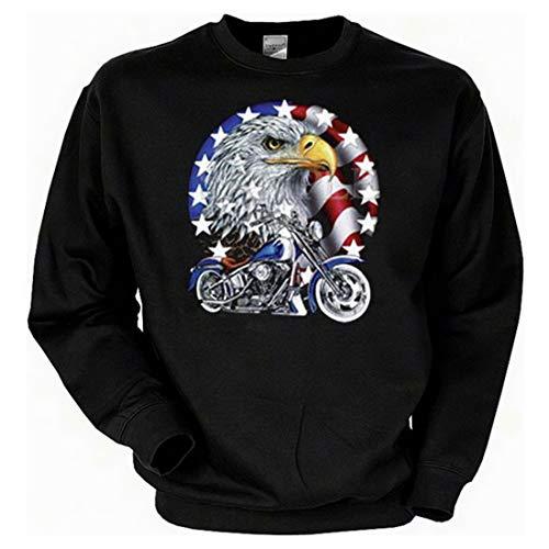 Biker Sweat-Shirt - Cruiser Bike with Eagle - Langarm-Shirt für echte Kerle (Cruiser Bike Shirts)