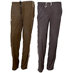 Indistar Women Premium Cotton Lower with 1 Zipper Pocket and 1 Open Pocket(Pack of 2)_Brown::Brown-40