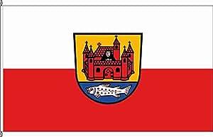 Königsbanner Tischfähnchen Jagstzell - Tischflaggenständer aus Holz
