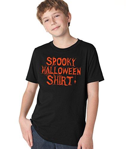 Crazy Dog TShirts - Youth Spooky Halloween Costume T Shirt Funny Trick Or Treat Tee For Kids (brown) M - jungen - (Halloween Urkomisch Kostüme Billige)