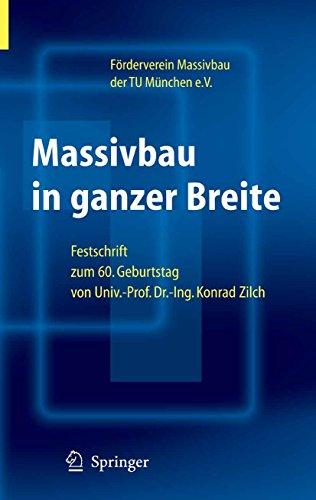 Massivbau in ganzer Breite: Festschrift zum 60. Geburtstag von Univ.-Prof. Dr.-Ing. Konrad Zilch Univ Wand