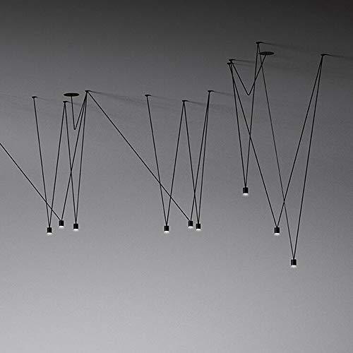 Einzigartiges Design Match Linie LED-Pendelleuchte-Befestigungs-Geometric DIY Draht hängende Lampe Luster Hauptdekor Industrie Spinne Lampe warmes Weiß,Weiß,3heads