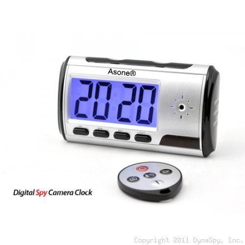 Reloj despertador portátil con cámara espía DVR y detección de movimiento, With 16GB Card