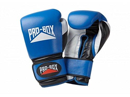 Pro Box Pro Spar, guantes piel entrenamiento - azul