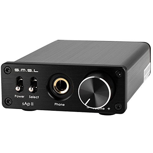Fidelity-stereo - (SMSL sApII TPA6120A2 Big Power High Fidelity Stereo Headphone Amplifier Verstärker Endstufe - Black)