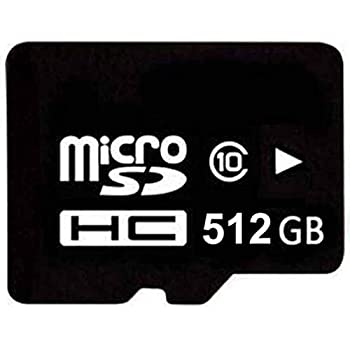 Hifacsonmic 512GB 512G Micro SDHC SD TF Memory Card Class10 with Micro SD Adapter + SD Card Reader Black